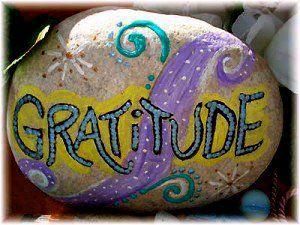 Gratitude pebble
