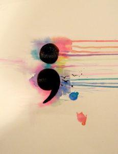 Semicolon rainbow