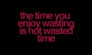 time-you-enjoy-wasting-is-not-wasted-time-wise-quote2